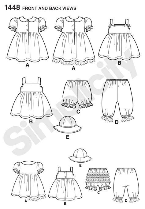 pattern review best of 2014 simplicity 1448 babies dress pinafore panties