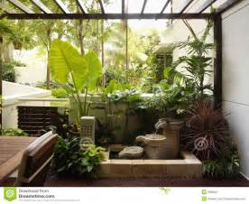 Home Design And Decorating Interior Design Garden Stock Image Image Of Wall Contemporary 2595827
