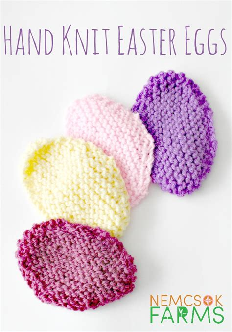 how to knit a easter knit easter eggs nemcsok farms