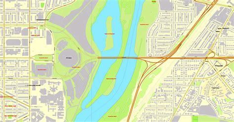 washington dc road map pdf washington dc pdf map us exact vector city plan