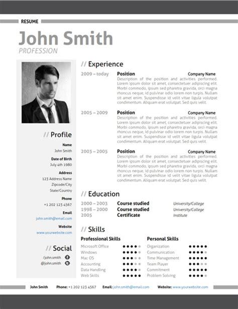 free download modern resume templates microsoft word resume template
