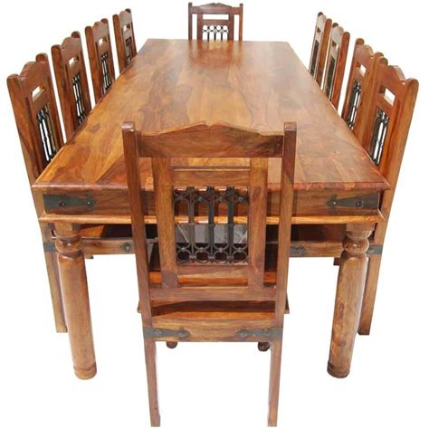 rustic dining tables and chairs san francisco rustic furniture large dining table with 10