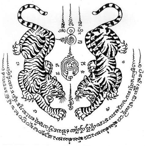 tattoo thai meaning image result for twin tigers yants tattoo ideas