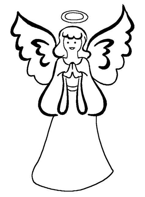 flying angel coloring page picture of an angel with a halo cliparts co