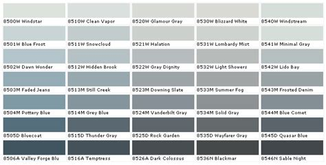 blue gray paint swatches homespiration