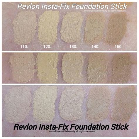 revlon insta fix foundation stick review swatches of shades