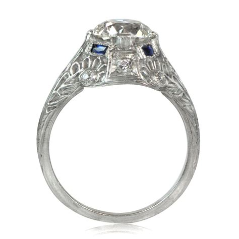 antique and sapphire ring