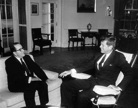 Kennedy Oval Office visit of ricardo chiari brother of the president of
