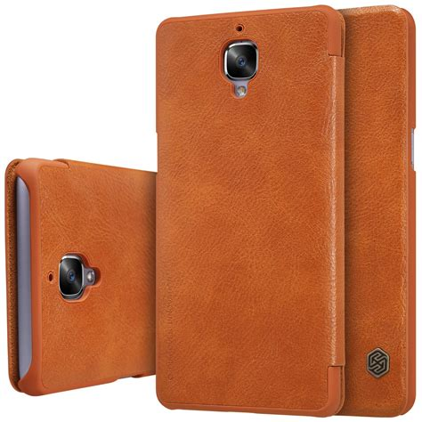 Nillkin Qin Leather Oneplus Three 1 nillkin qin series royal leather flip cover for