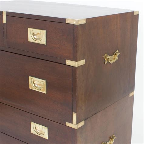 Chest Of Drawers Hardware Vintage Mahogany Chest Of Drawers With Brass