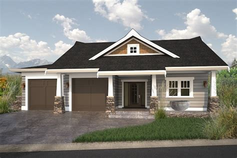 bungalow with basement house plans cute walk out bungalow house plan hunters
