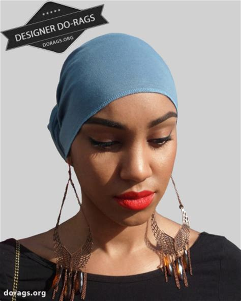 dew rag short hair blue jean blue do rag