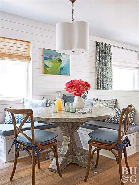 banquette with round table home trends beautiful banquettes james river