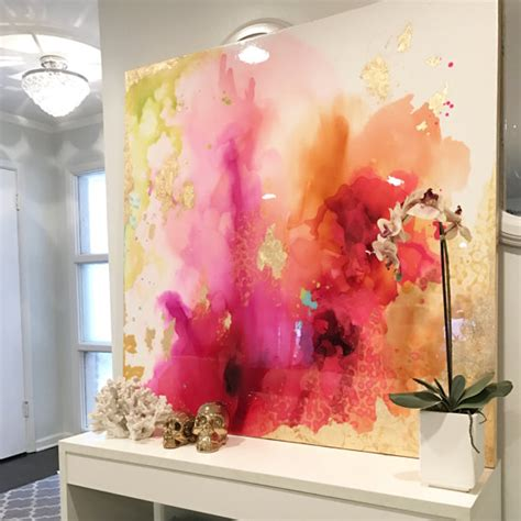 large artwork sold abstract art large canvas painting white fuschia
