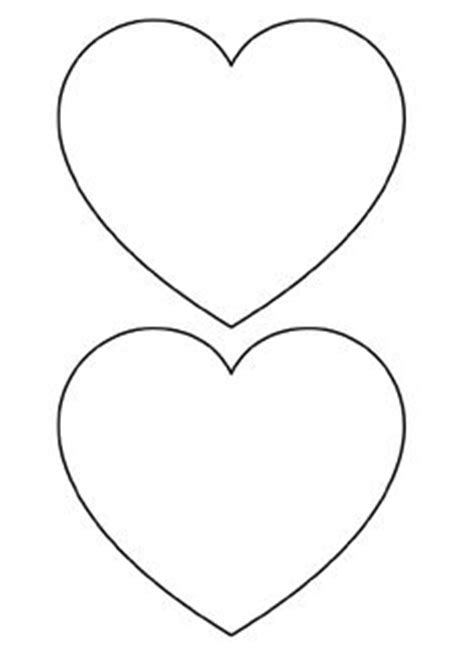 printable valentine stencils free printable heart templates large medium small