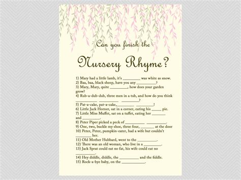 Unique Baby Shower Names by Willow Tree Baby Shower Package Magical Printable