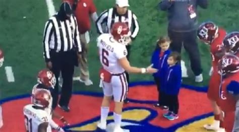 Www Mba Records Basketball Mayfield by Kansas Players Refuses To Shake Baker Mayfield S