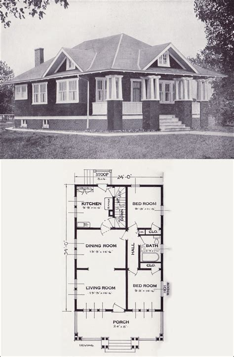 standard home plans 1923 craftsman style bungalow the irving by standard