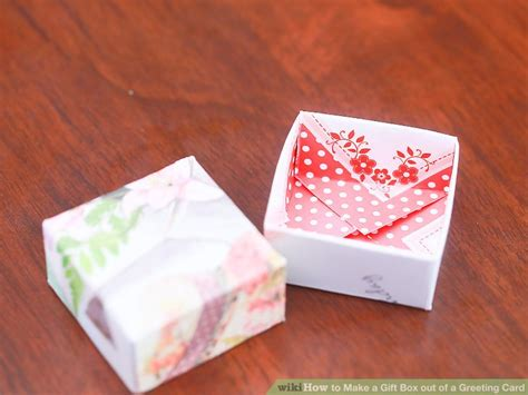how to make a box out of card template how to make a gift box out of a greeting card with pictures