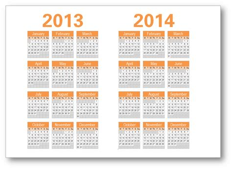 printable yearly calendar 2013 and 2014 7 best images of year calendar 2014 printable one page