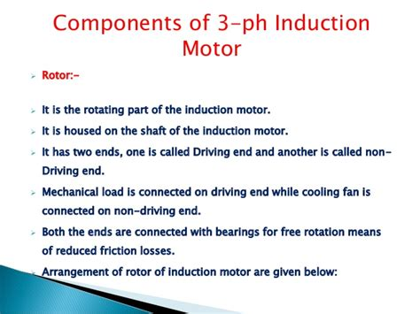 induction motor no load losses induction motor in ppt 28 images 3 ph induction motor ppt capacitor start and run induction
