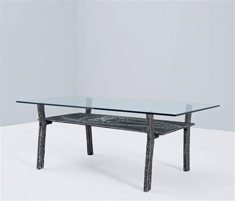 Brutalist Coffee Table In Cast Iron And Glass Belgium Cast Iron And Glass Coffee Table