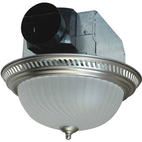 Decorative Bathroom Fans by Bathroom Fans 70 Cfm Decorative Exhaust Fan With Light In Rubbed Bronze Nickel