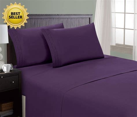 amazon bed sheets amazon hc collection bed sheet pillowcase set hotel