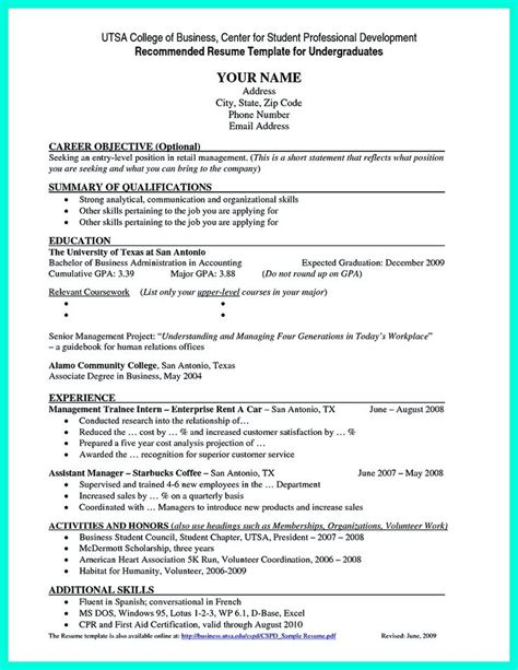 Resume Template Undergraduate by 17 Best Ideas About Student Resume Template On
