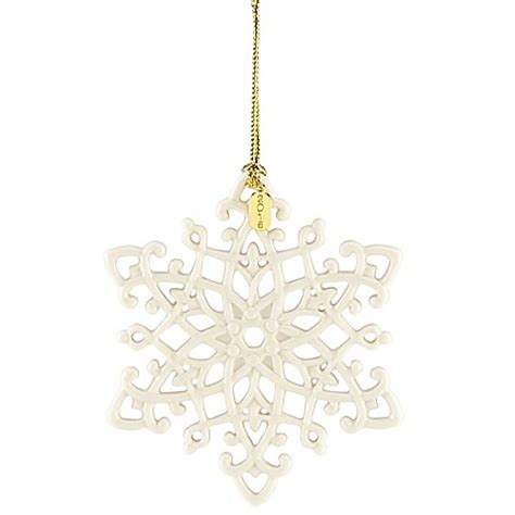 lenox twelve days of christmas snowflake ornaments lenox 174 2016 snow fantasies snowflake ornament bed bath beyond