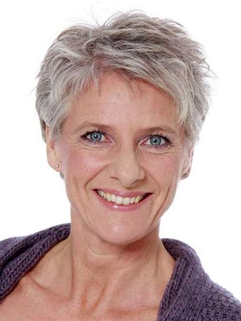 short hairstyles for gray haired women over 60 layered short pixie hairstyles for grey hair fantastic