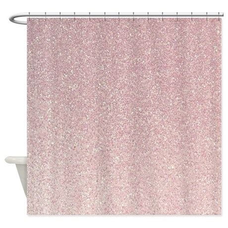 light pink shower curtain light pink faux glitter texture shower curtain by