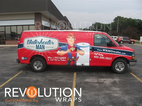 water pattern vans plumbing van wraps making the design stand out for a