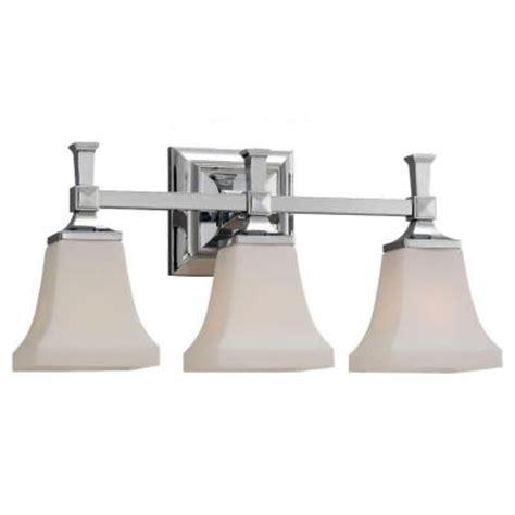 3 light vanity fixture chrome sea gull lighting melody 3 light chrome vanity light 44707
