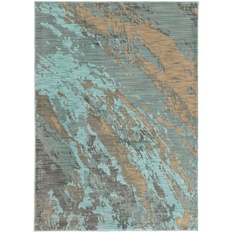 collection area rugs home decorators collection java blue 5 ft 3 in x 7 ft 6 in area rug 9211820340 the home depot