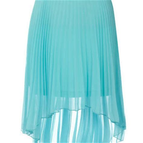 light blue pleated dip skirt view all from dorothy perkins