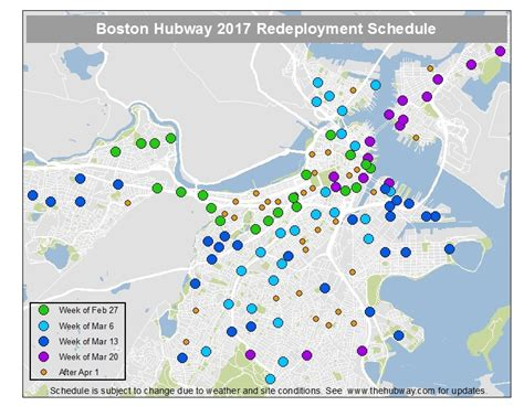 hubway map seasonal station deployment schedule march 20 24 the hubway