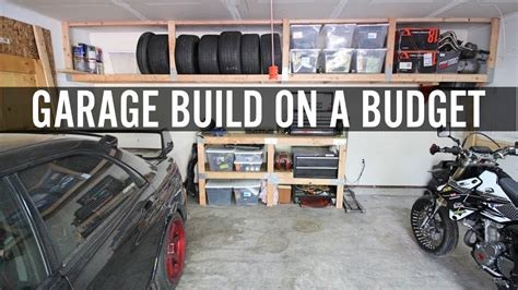 how to build a garage workshop diy garage build part 1 building shelves and tire rack