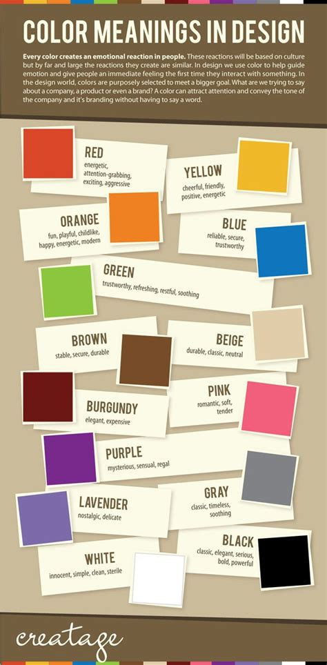 design meaning of colors color meanings in design infographic smashfreakz