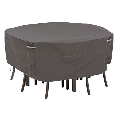 Outdoor Patio Table Covers Classic Accessories Ravenna Patio Table Chair Cover Taupe Outdoor Covers At Hayneedle