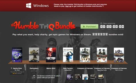 humble bundle osirez tech news the best video game deal ever thq