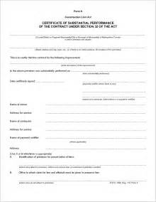 Completion Form Template by Best Photos Of Construction Completion Form Sle