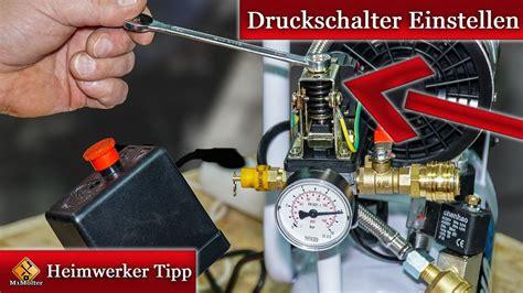 Einhell Hauswasserwerk Druckschalter Einstellen by Druckschalter Einstellen Anleitung F 252 R Kompressoren