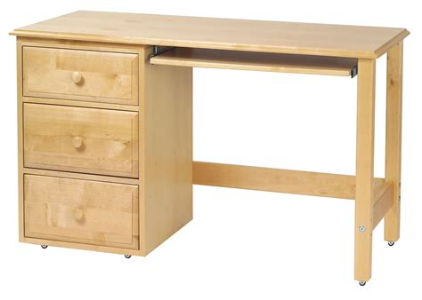 natural light desk l maxtrix student desk w left drawers in natural 2415ln