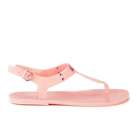jelly sandal wedges silang michael michael kors s mk plate jelly sandals pale
