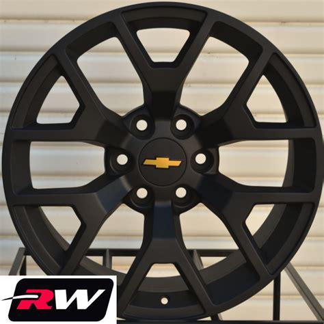Chevrolet Wheels by 2014 Gmc Wheels Rims 22x9 Quot Matte Black 22 Quot Inch Fit