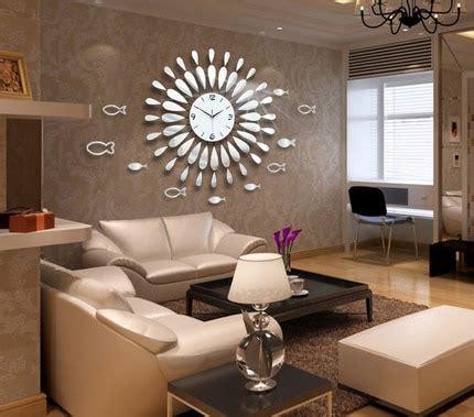 creative mirror shine living room bedroom watch clock
