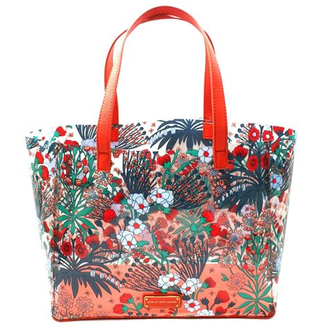 marc by marc multi transparent flowery tote bag m0002368 marc by marc