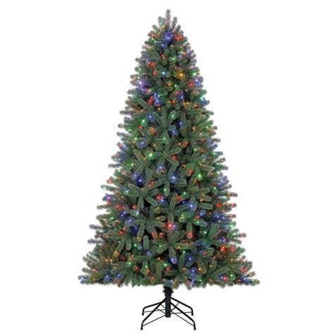 colorado spruce christmas tree lowes living 7 5 ft pre lit colorado spruce artificial tree with 700 multi function