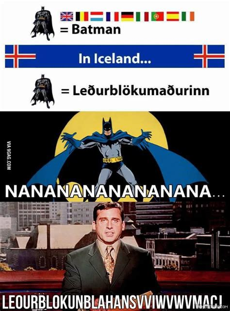 Iceland Meme - we like batman or as we call him here in iceland leourb